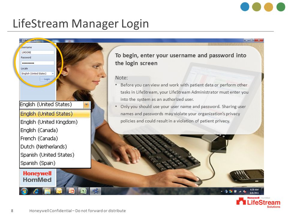 LifeStream Manager Login
