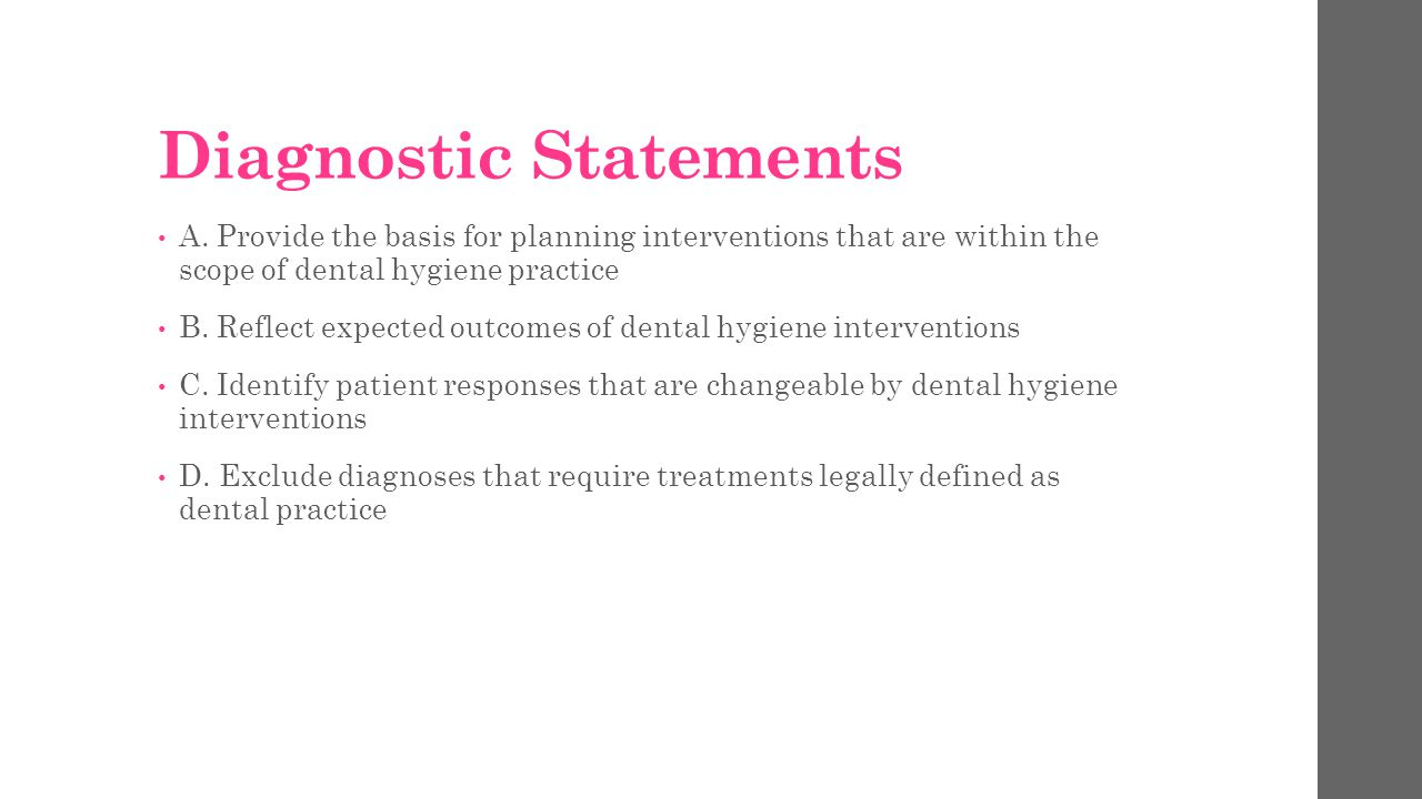 Diagnostic Statements