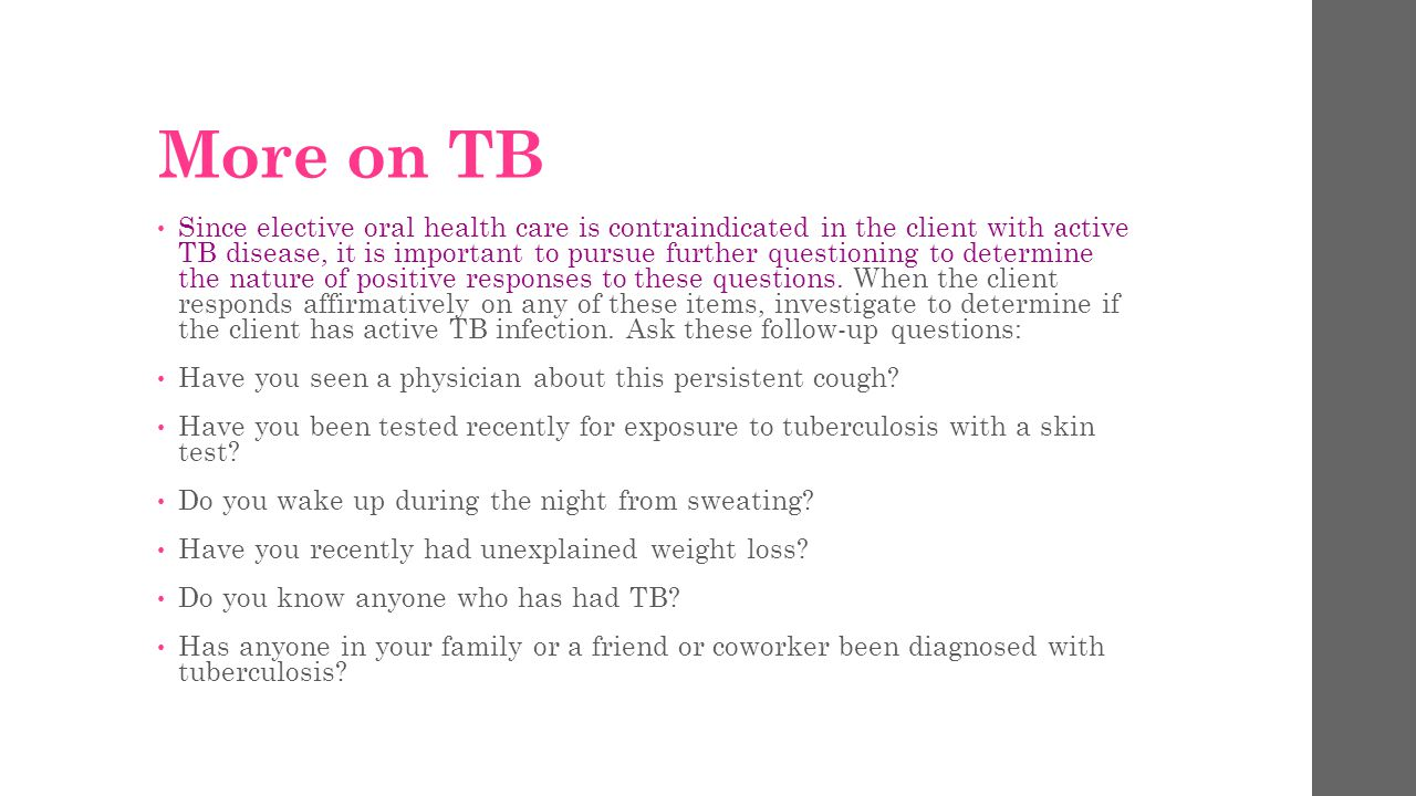 More on TB