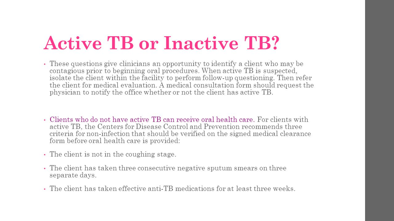 Active TB or Inactive TB