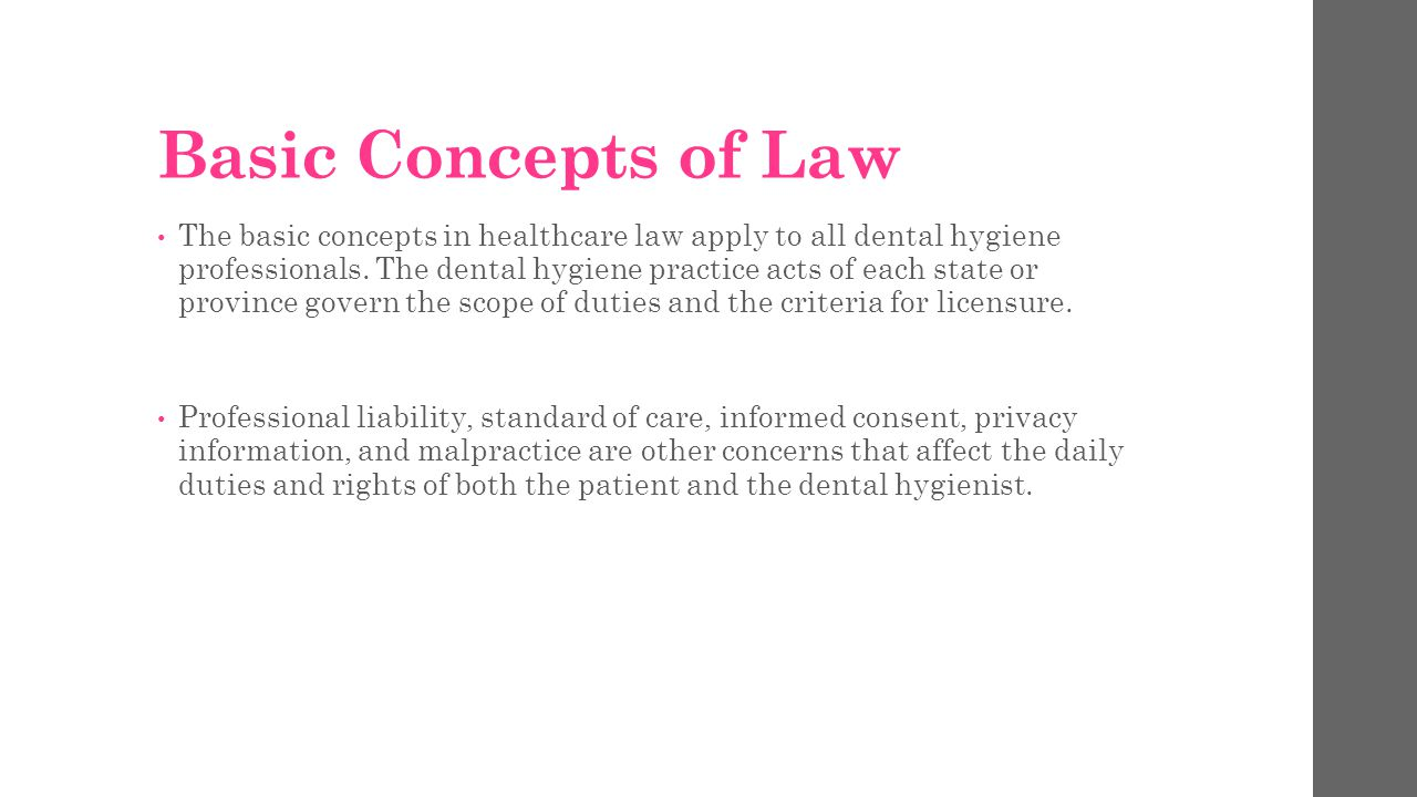Basic Concepts of Law