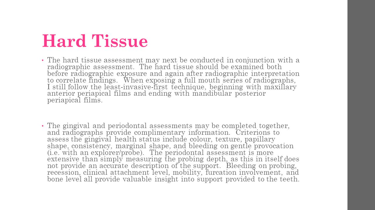 Hard Tissue