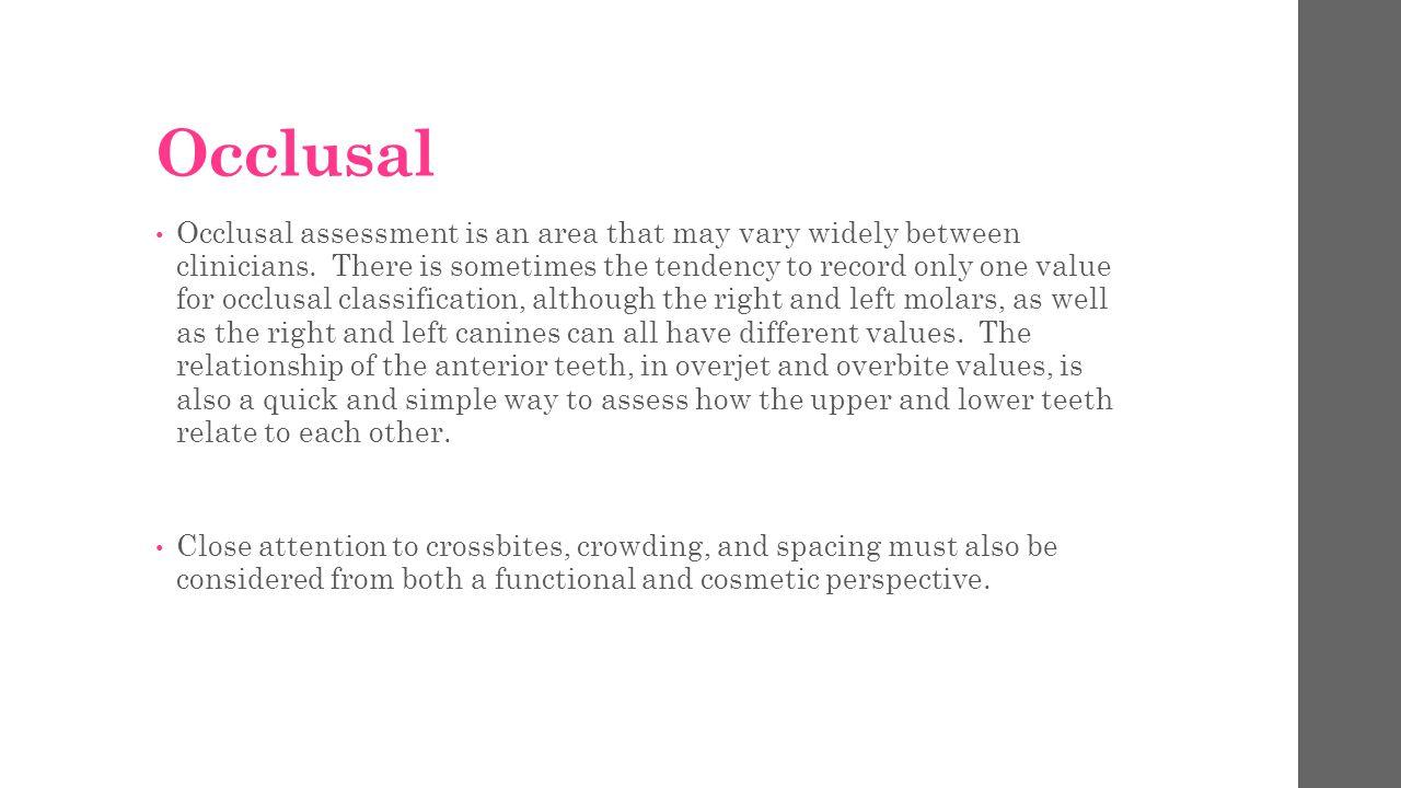 Occlusal