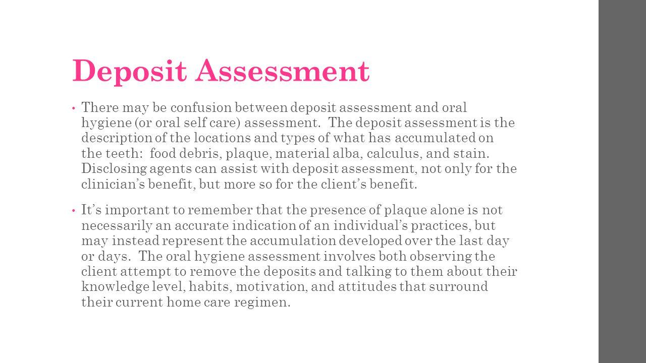 Deposit Assessment
