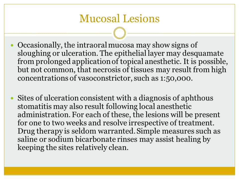 Mucosal Lesions