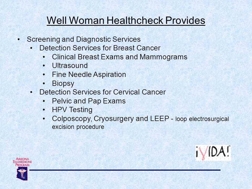 Well Woman Healthcheck Provides