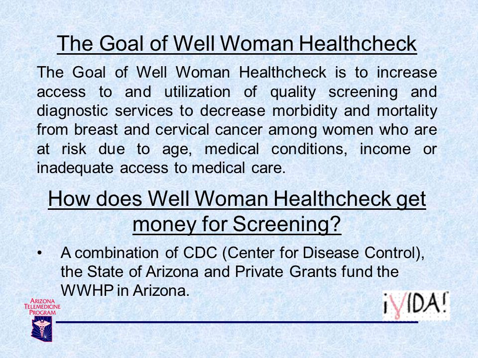 The Goal of Well Woman Healthcheck
