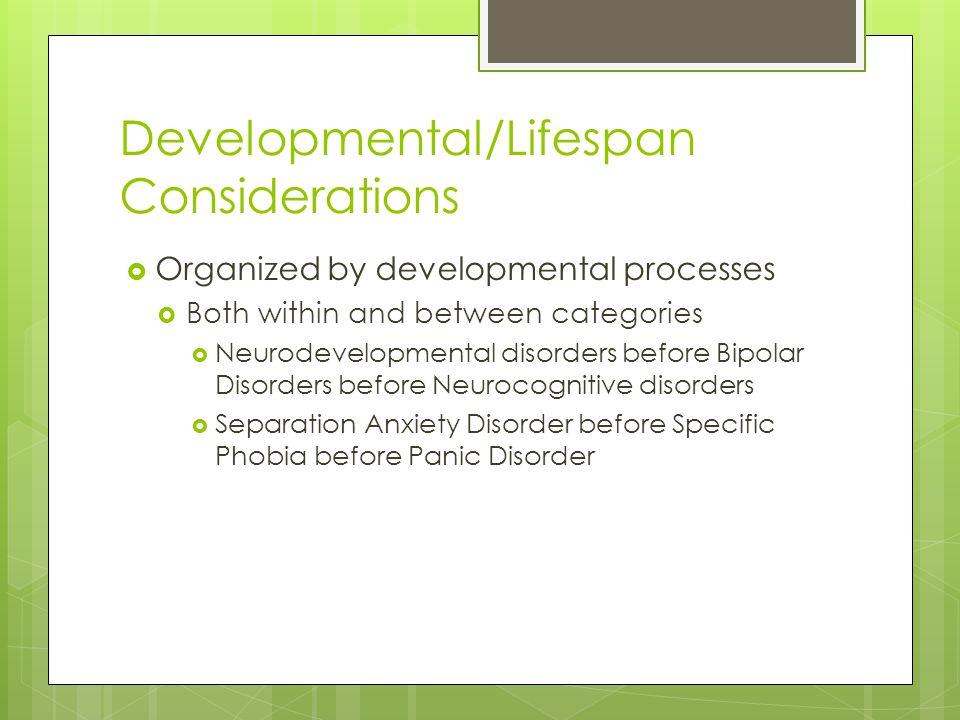 Developmental/Lifespan Considerations