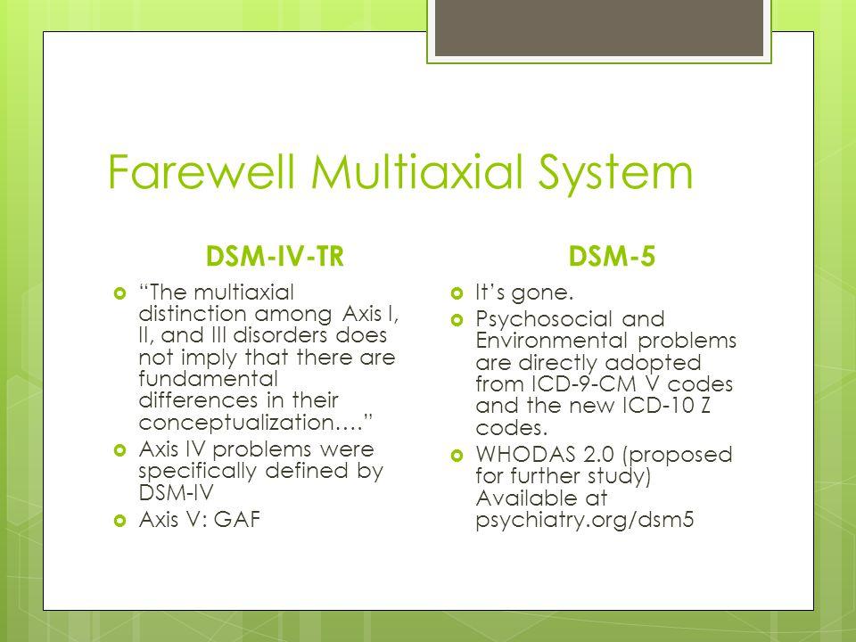 Farewell Multiaxial System