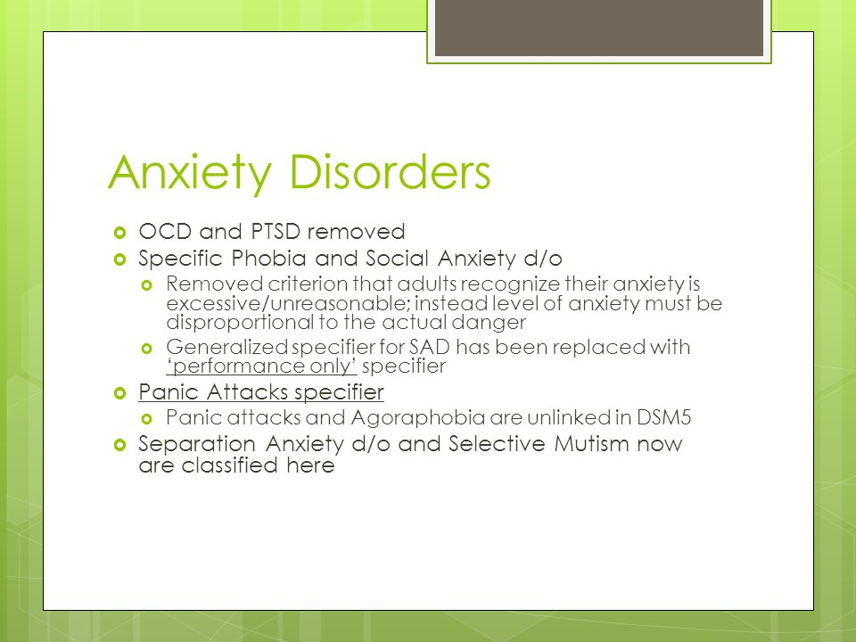 Anxiety Disorders OCD and PTSD removed