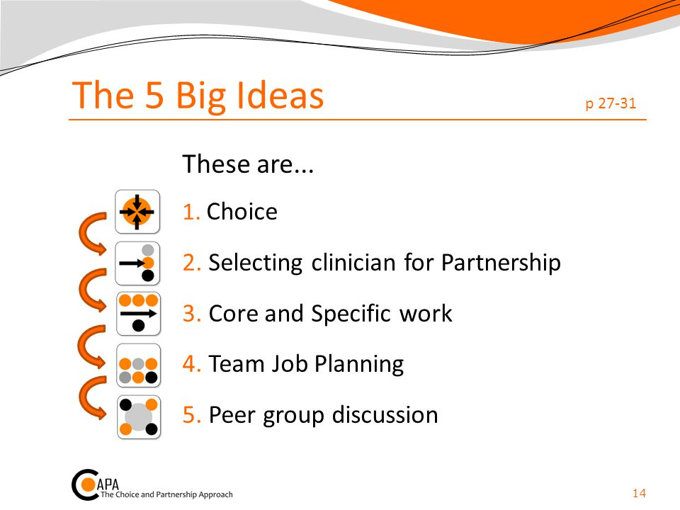 The 5 Big Ideas p 27-31 These are...