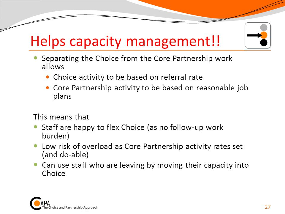 Helps capacity management!!