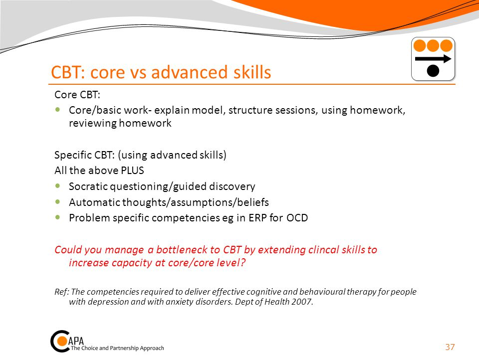 CBT: core vs advanced skills