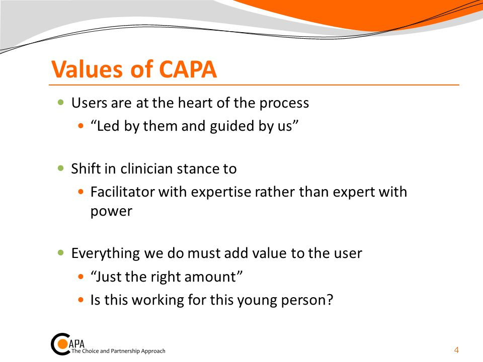 Values of CAPA Users are at the heart of the process