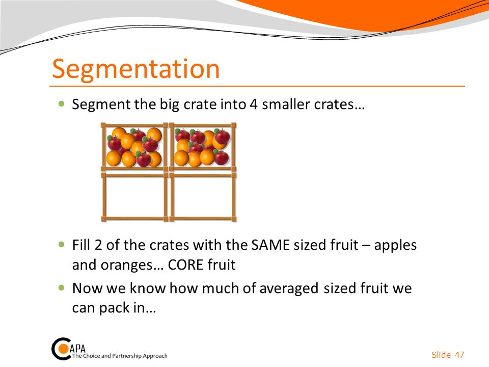 Segmentation Segment the big crate into 4 smaller crates…