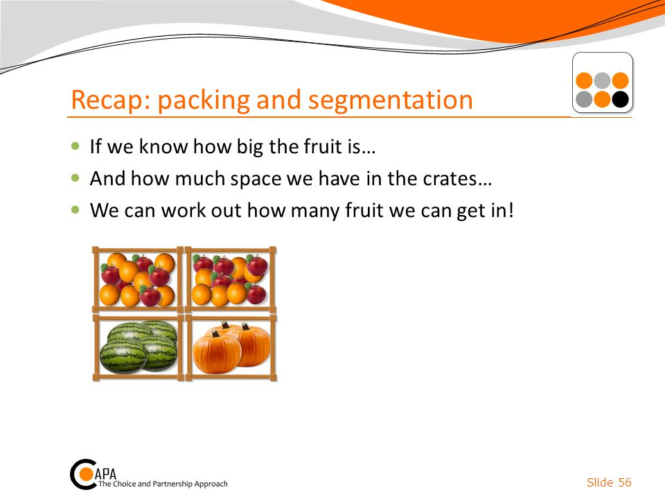 Recap: packing and segmentation
