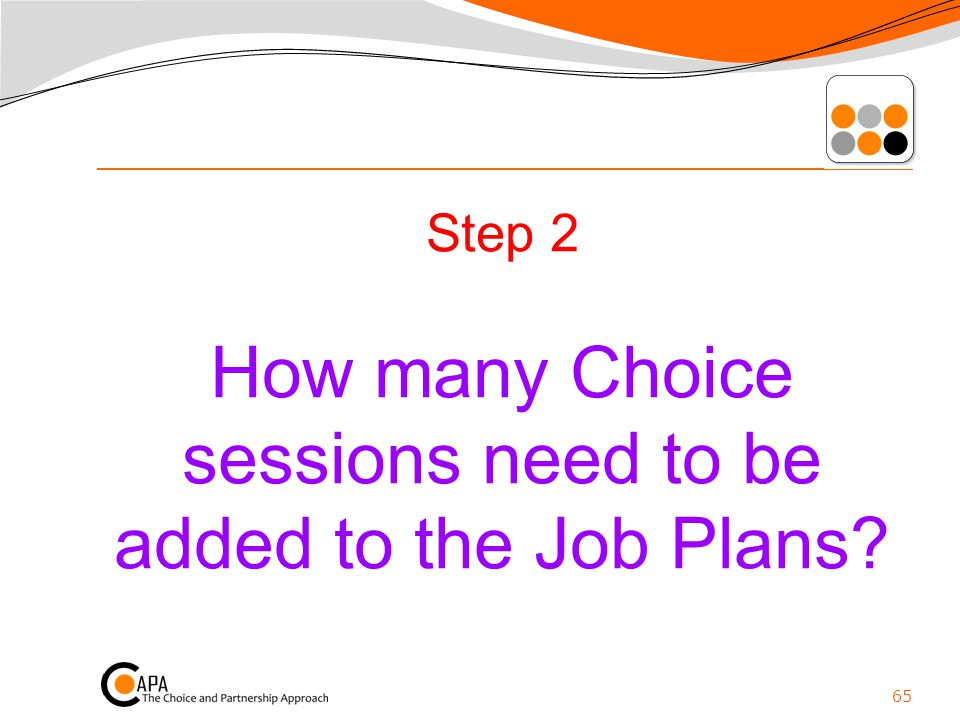 Step 2 How many Choice sessions need to be added to the Job Plans