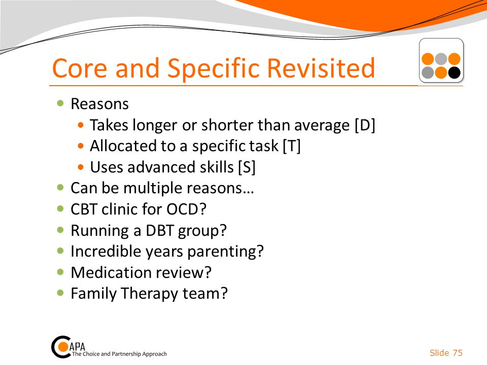 Core and Specific Revisited