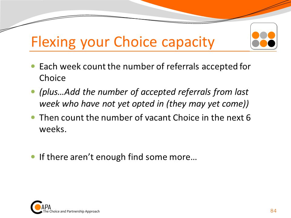 Flexing your Choice capacity