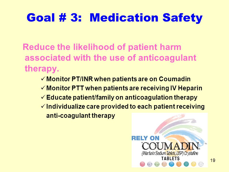 Goal # 3: Medication Safety