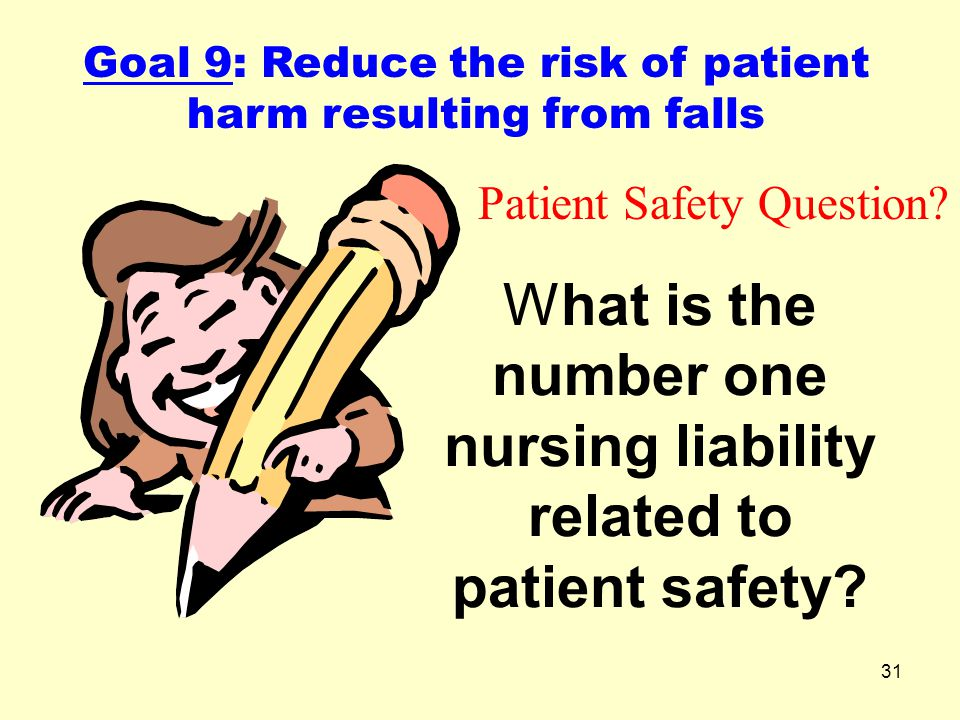 What is the number one nursing liability related to patient safety