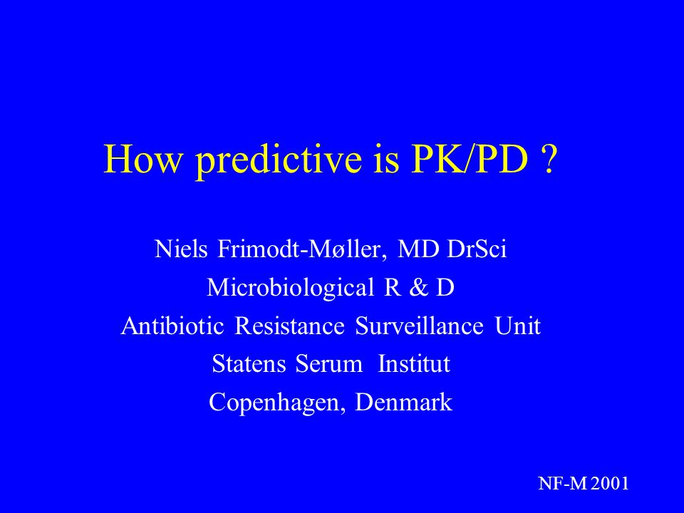 How predictive is PK/PD