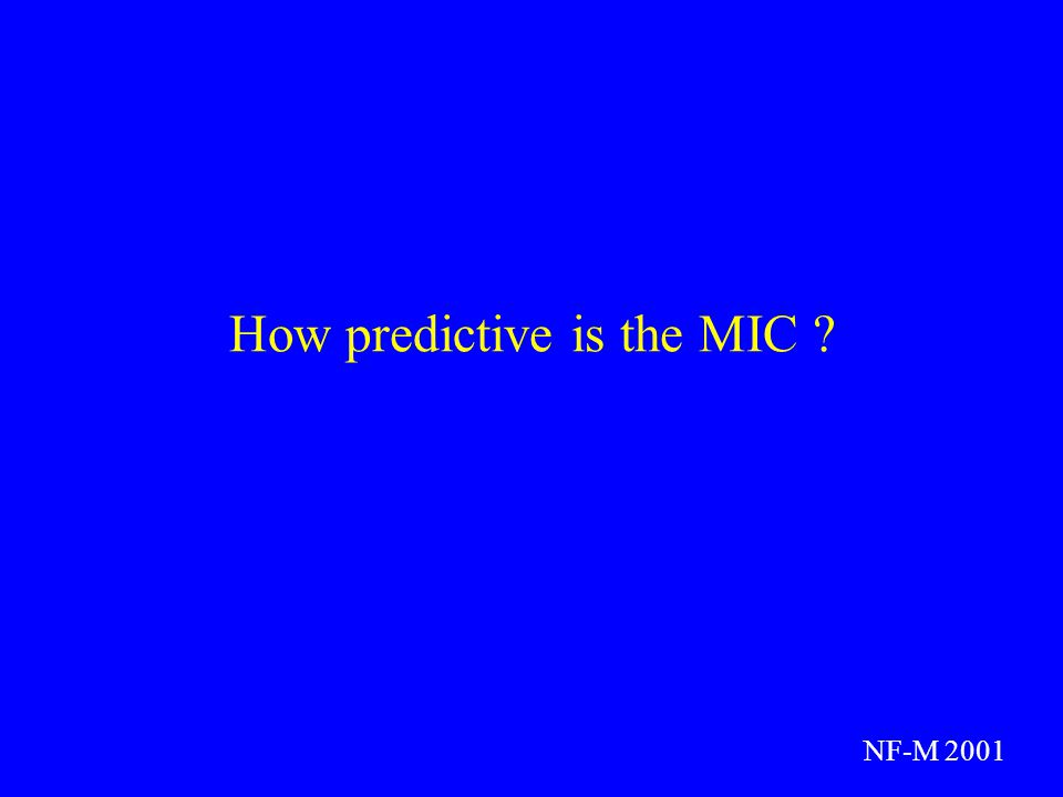 How predictive is the MIC