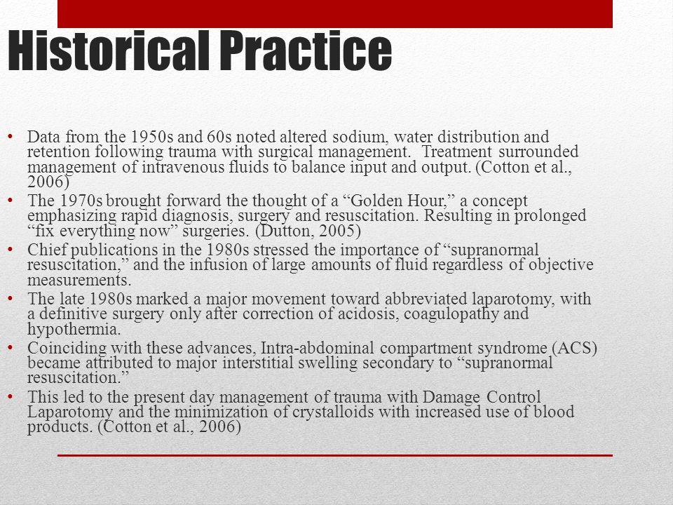 Historical Practice