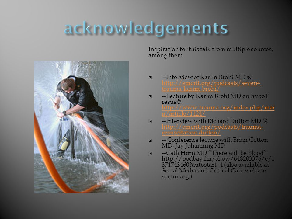 acknowledgements Inspiration for this talk from multiple sources, among them.