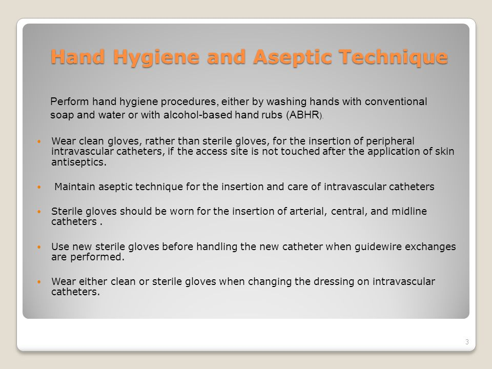 Hand Hygiene and Aseptic Technique