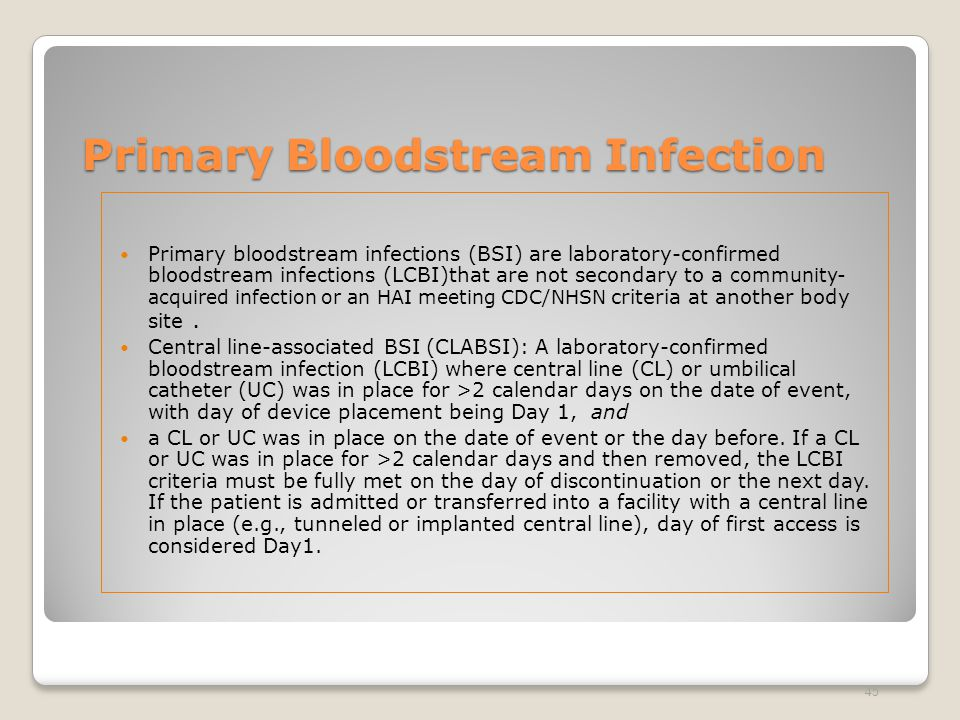 Primary Bloodstream Infection