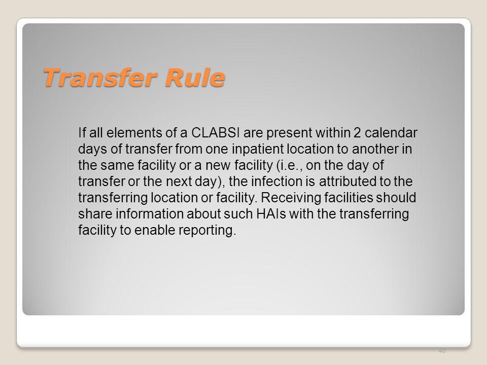 Transfer Rule