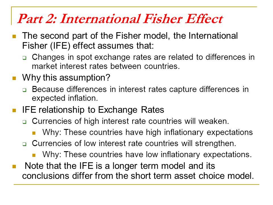 Part 2: International Fisher Effect