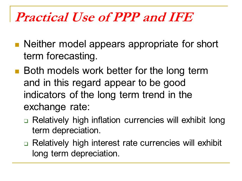 Practical Use of PPP and IFE