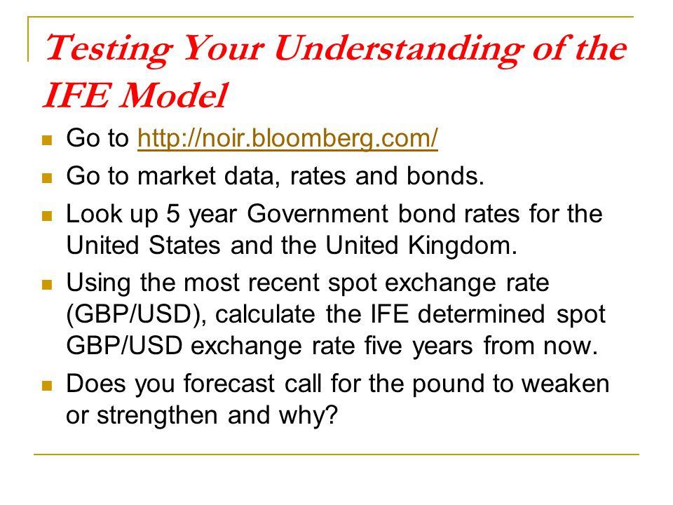 Testing Your Understanding of the IFE Model