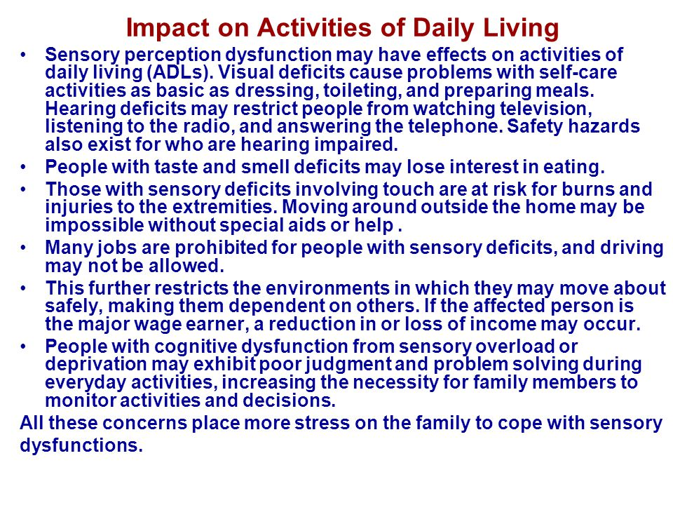 Impact on Activities of Daily Living
