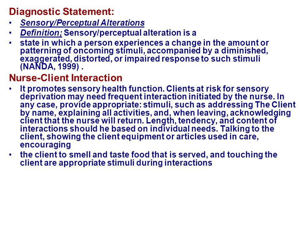 Diagnostic Statement: