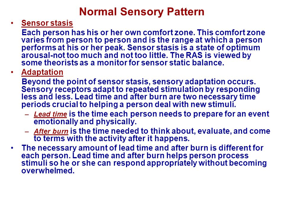 Normal Sensory Pattern