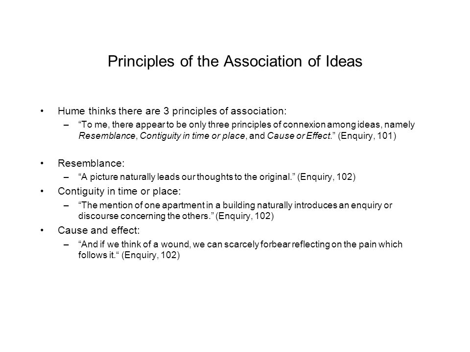 Principles of the Association of Ideas