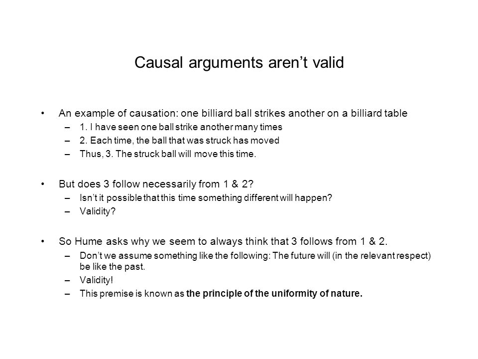 Causal arguments aren't valid