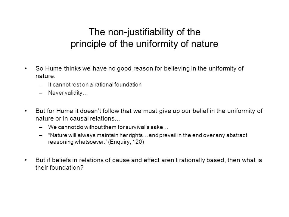 The non-justifiability of the principle of the uniformity of nature