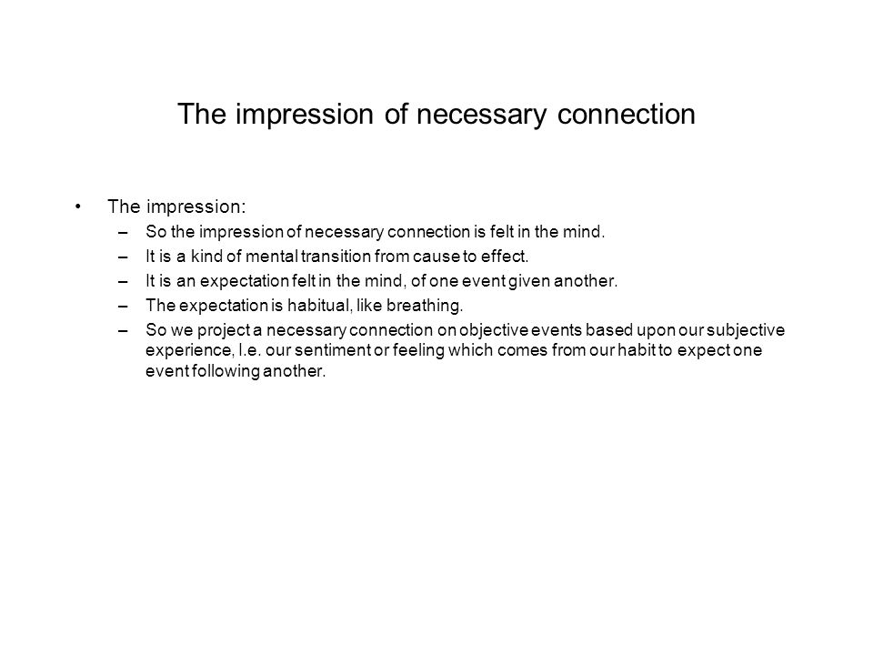 The impression of necessary connection