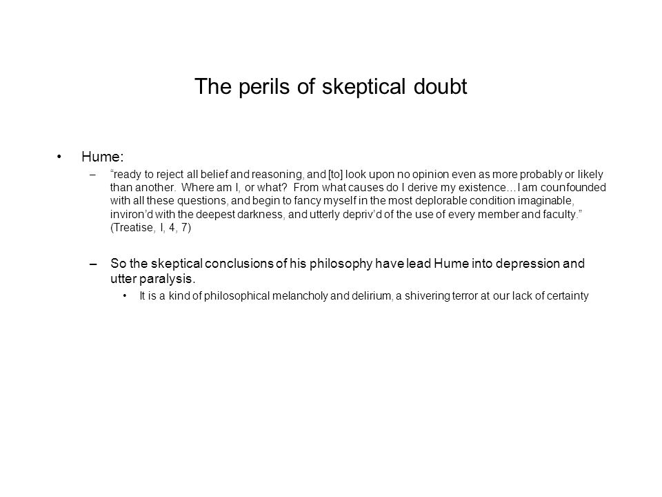 The perils of skeptical doubt