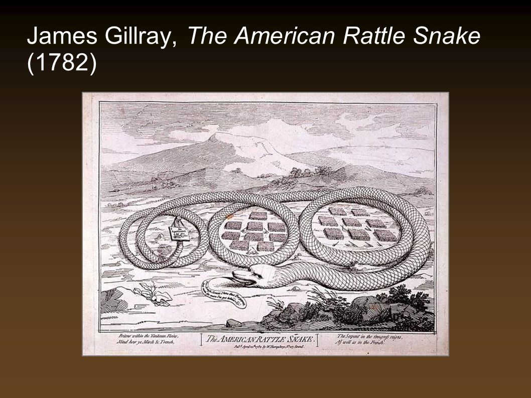 James Gillray, The American Rattle Snake (1782)