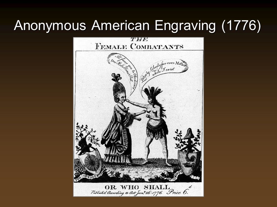 Anonymous American Engraving (1776)