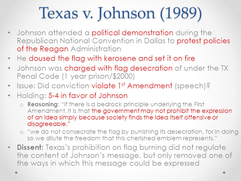 Texas v. Johnson (1989)