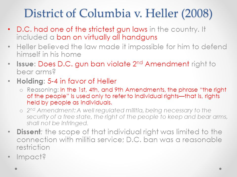 District of Columbia v. Heller (2008)