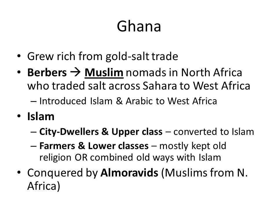 Ghana Grew rich from gold-salt trade