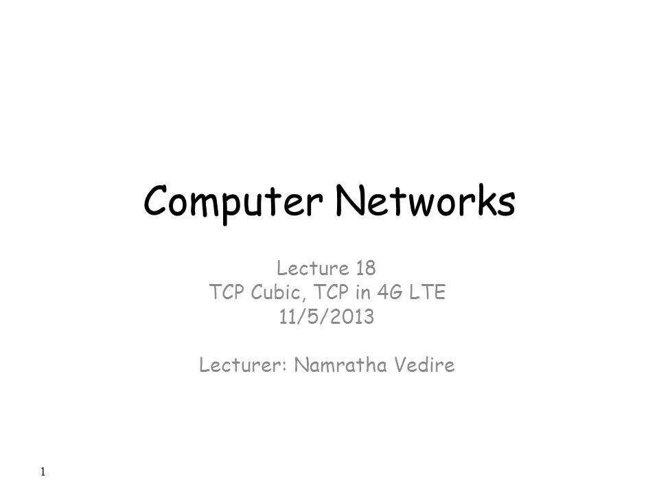 Lecturer: Namratha Vedire