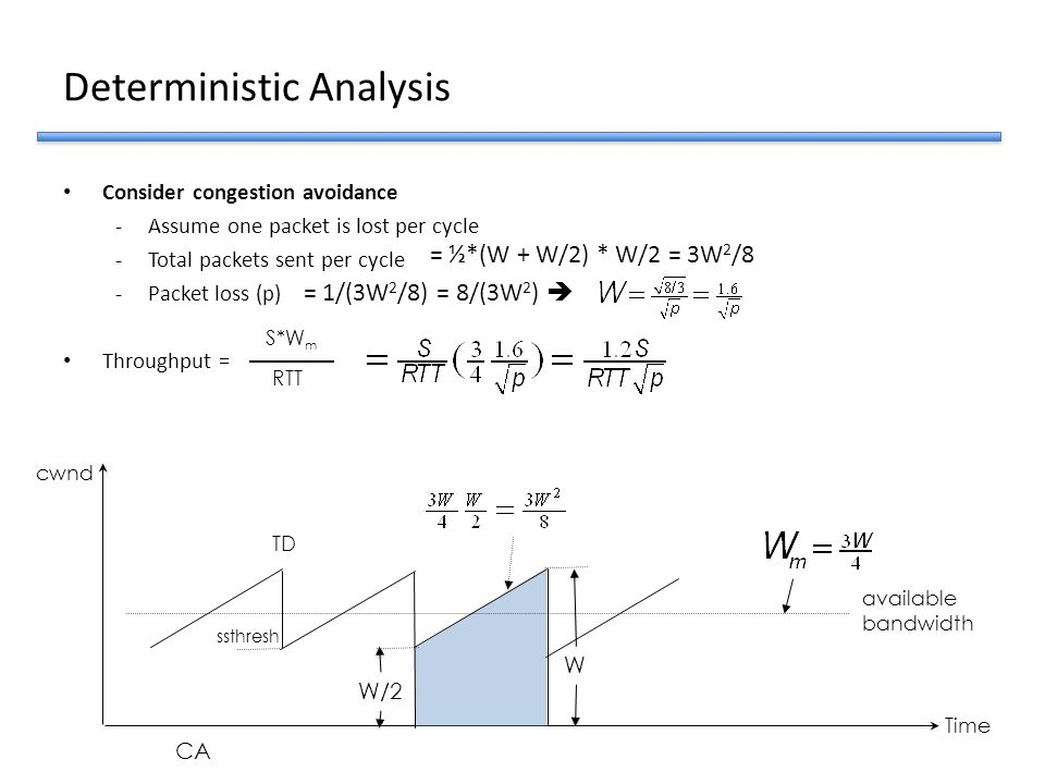 Deterministic Analysis
